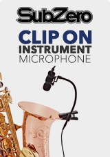 SubZero Clip On Instrument Condenser Microphone