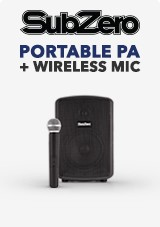 SubZero Portable PA + Wireless Mic